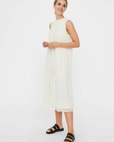 Krémové šaty Vero Moda