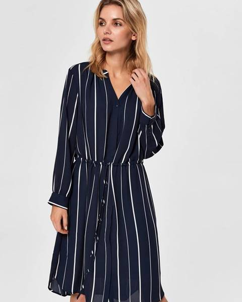 Tmavomodré šaty Selected Femme