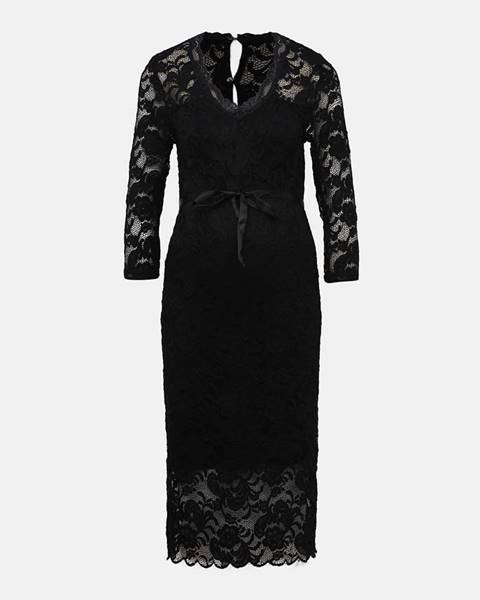 Čierne tehotenské šaty Mama.licious