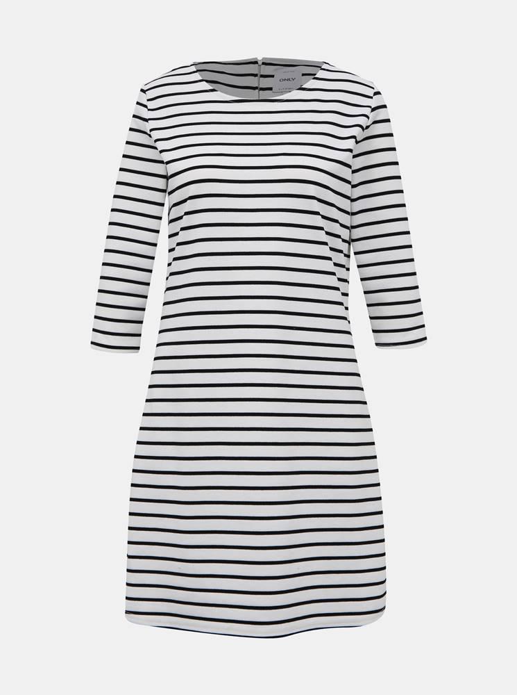 Only Čierno-biele pruhované šaty ONLY Brilliant