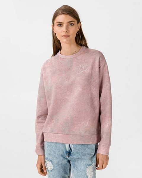 Ružová mikina bez kapucne Pepe jeans
