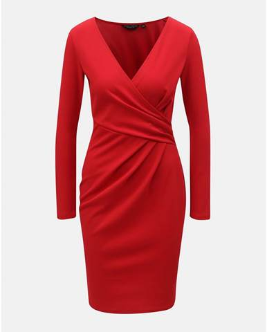 ZĽAVA až 50% na Červené puzdrové šaty s čipkovanými detailmi Dorothy ... 85876265c16