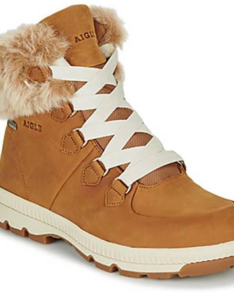 Hnedé topánky Aigle