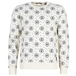Mikiny Scotch   Soda  CREWNECK SWEAT WITH LOGO ALL-OVER PRINT