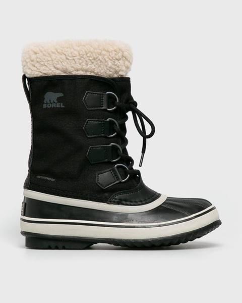 Čierne zimná obuv Sorel