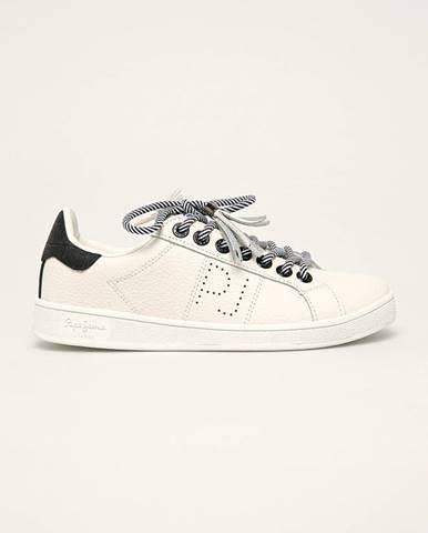 Biele topánky Pepe jeans