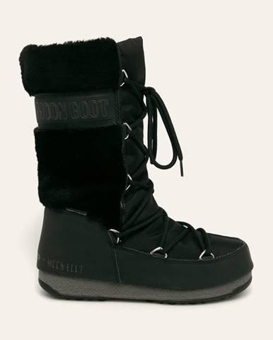 Čierne zimná obuv Moon Boot