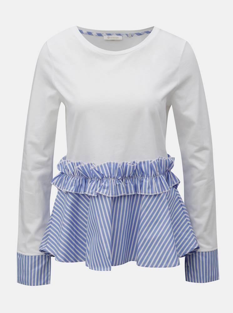 Modro–biely top s pruhovaný...