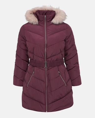 Vínový kabát Dorothy Perkins Curve
