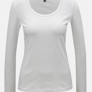 Biele basic tričko s dlhým rukávom Yest