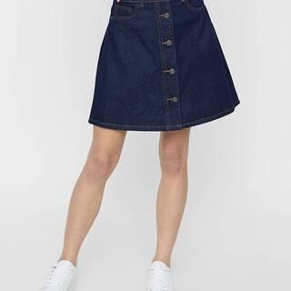 Tmavomodrá rifľová sukňa Noisy May Sunny
