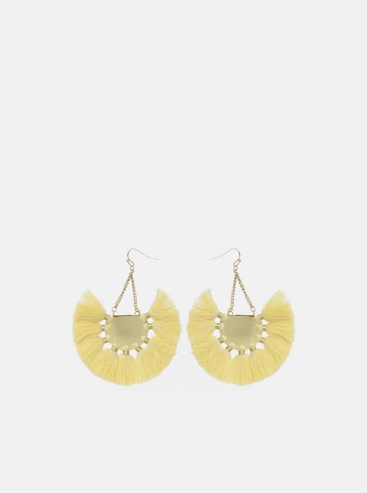 Žlté náušnice Pieces Blanka