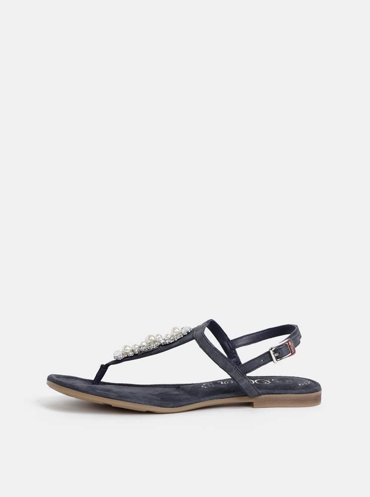 Tmavošedé semišové sandály ...