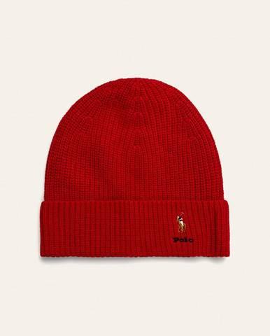 Červená čiapka Polo Ralph Lauren