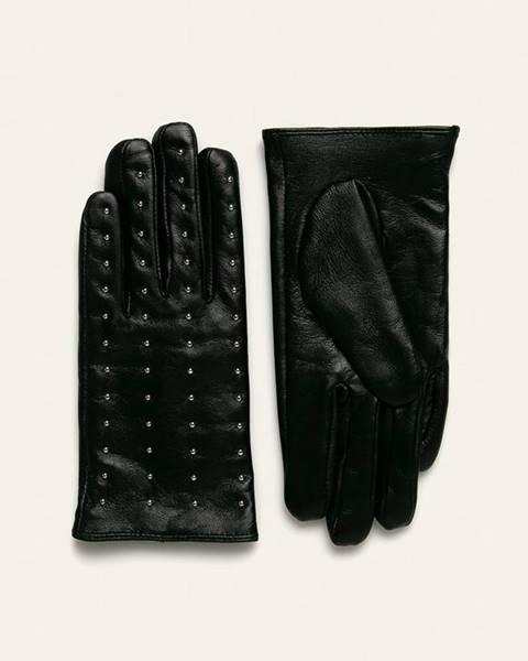 Čierne rukavice Answear