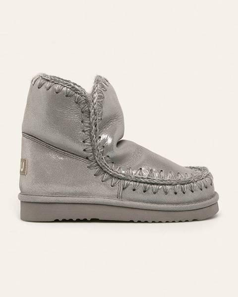 Sivé zimná obuv Mou