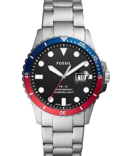 Strieborné hodinky Fossil