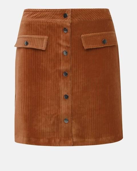 Hnedá sukňa Only
