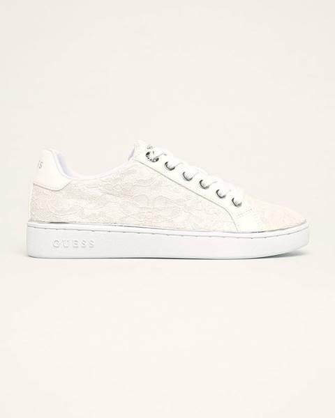 Biele topánky Guess Jeans