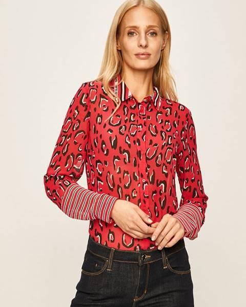 Ružová košeľa Guess Jeans