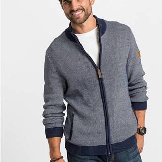 Pletený sveter so stojačikom