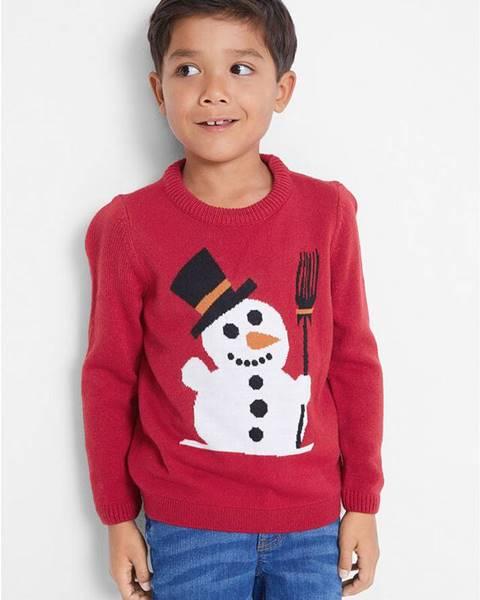 bonprix Vianočný pulóver so snehuliakom