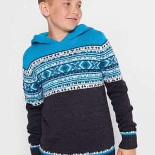 Pletený pulóver s kapucňou
