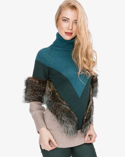 Modrý sveter Versace Collection