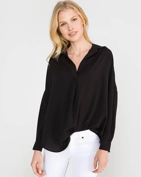 Čierna košeľa s dlhým rukávom French Connection