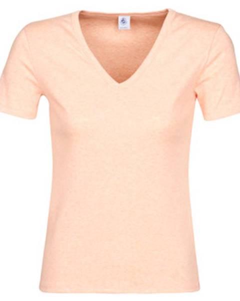 Ružové tričko Petit Bateau