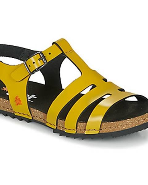 Žlté sandále Art