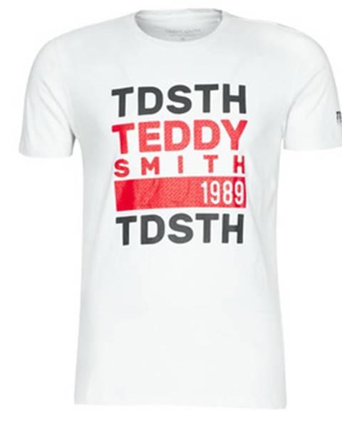 Biele tričko Teddy Smith