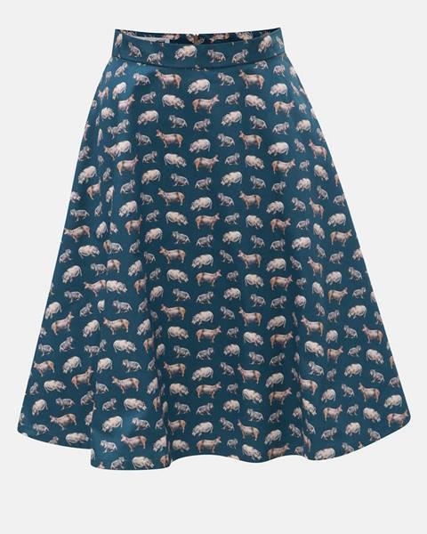 Petrolejová sukňa annanemone