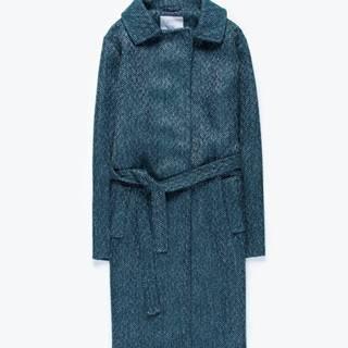 Dlhý kabát s opaskom