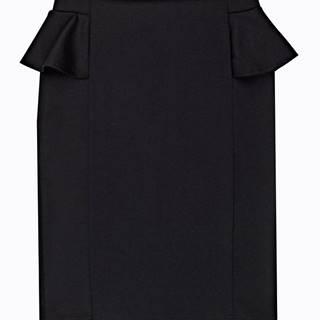 Puzdrová sukňa s volánom