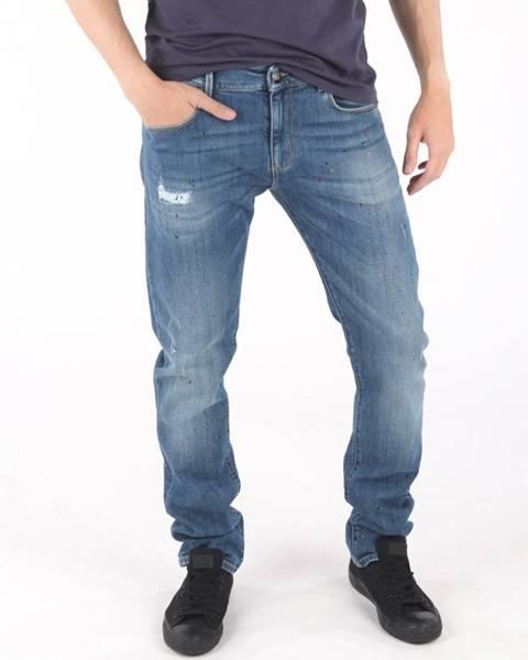 Modré nohavice Trussardi Jeans