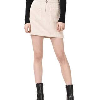 Vero Moda Cordatine Sukňa Béžová