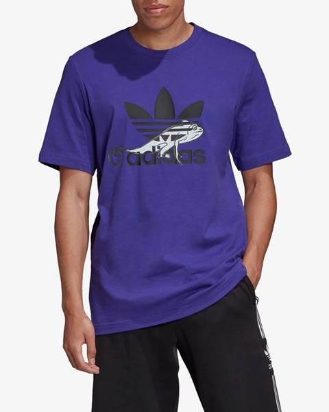 Fialové tričko adidas Originals