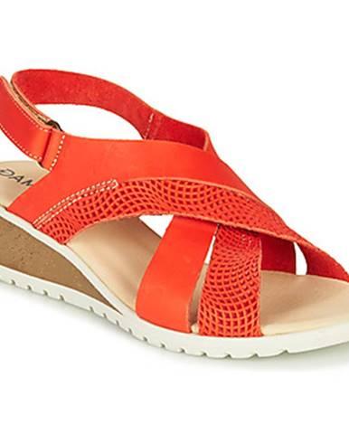 Červené sandále Damart