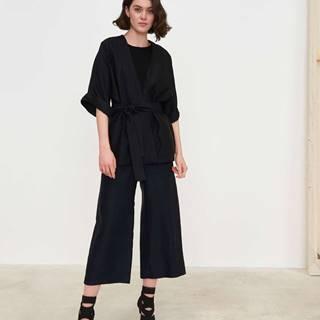 Dámske kimonové sako  čierna