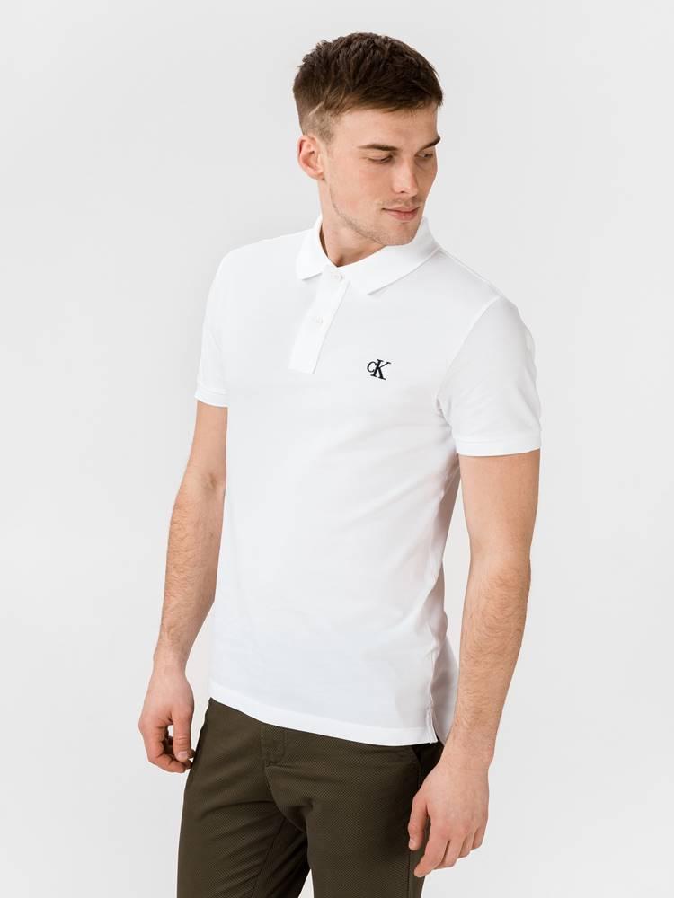 Calvin Klein Polo triko Calvin Klein Biela