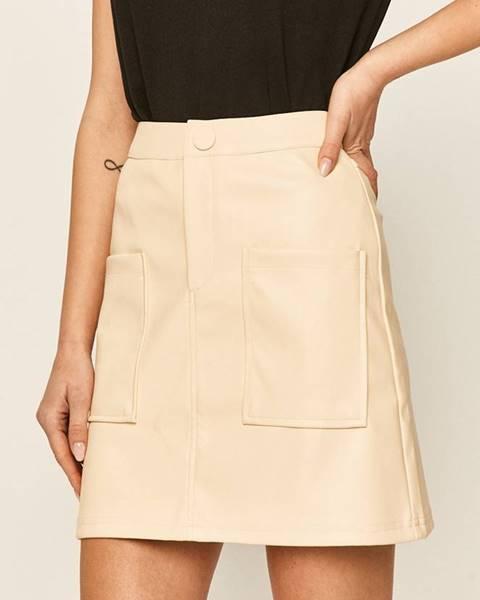 Béžová sukňa Answear