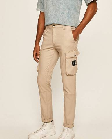 Béžové nohavice Calvin Klein Jeans