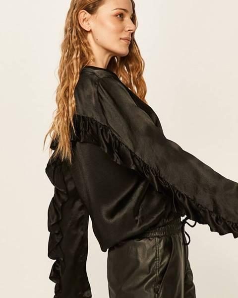 Čierna bunda Answear