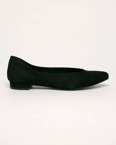 Čierne balerínky Marco Tozzi