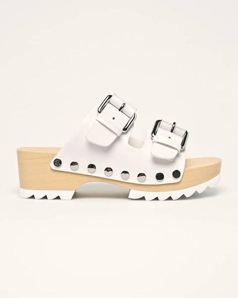 Biele sandále Calvin Klein Jeans