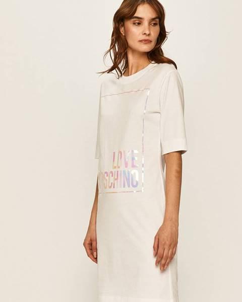 Biele šaty Love Moschino