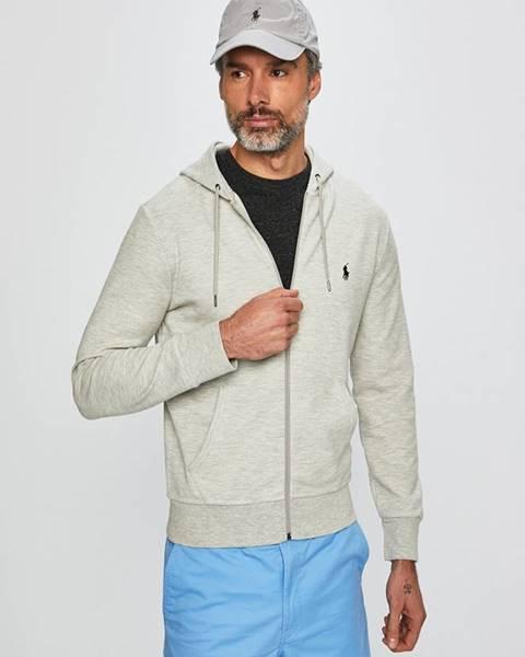 Sivá bunda s kapucňou Polo Ralph Lauren