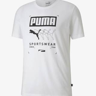 Tričko Puma Box Tee Biela