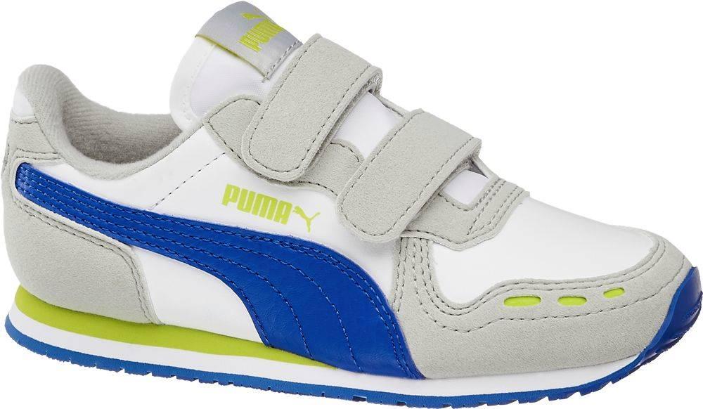 Puma Puma - Biele tenisky na suchý zips Puma Cabana Racer SL